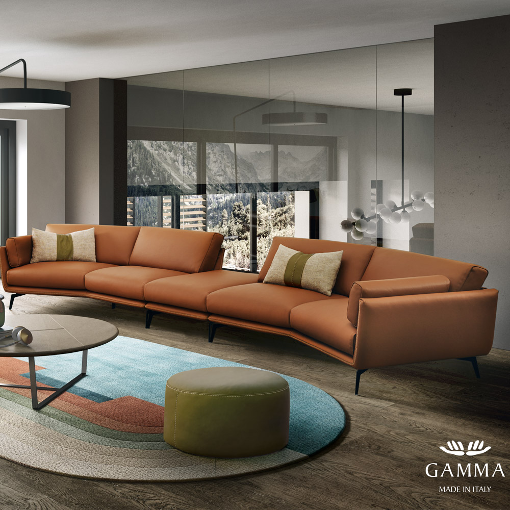 Finding A Beautiful Italian Leather Sofa In A Contemporary ...